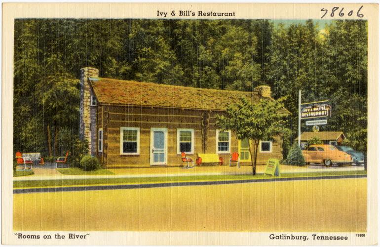 "Ivy & Bill's Restaurant, ""Rooms on the river"", Gatlinburg, Tennessee"