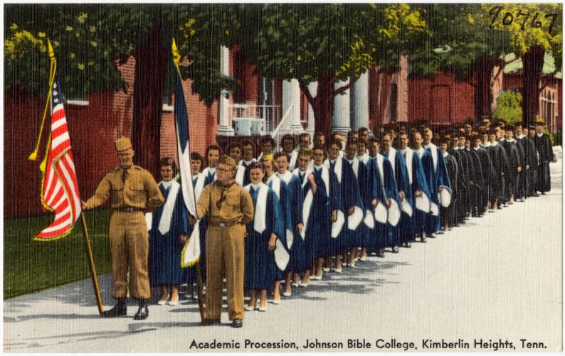 Academic Procession, Johnson Bible College, Kimberlin Heights, Tenn.