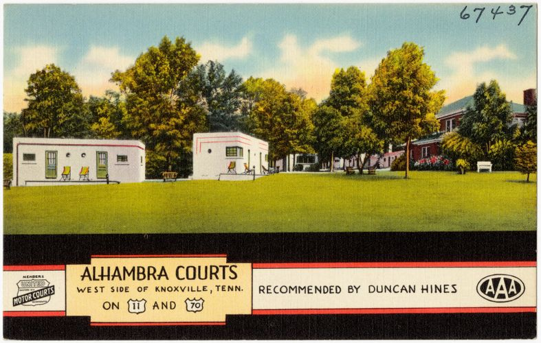 Alhambra Court, west of Knoxville, Tenn., on U.S. 11 and 70
