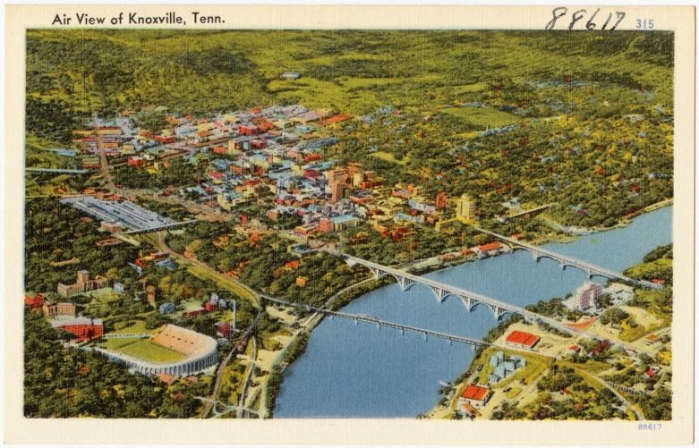 Air view of Knoxville, Tenn.