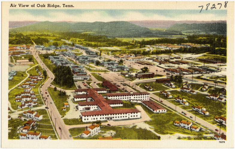 Air view of town site, Oak Ridge, Tenn.
