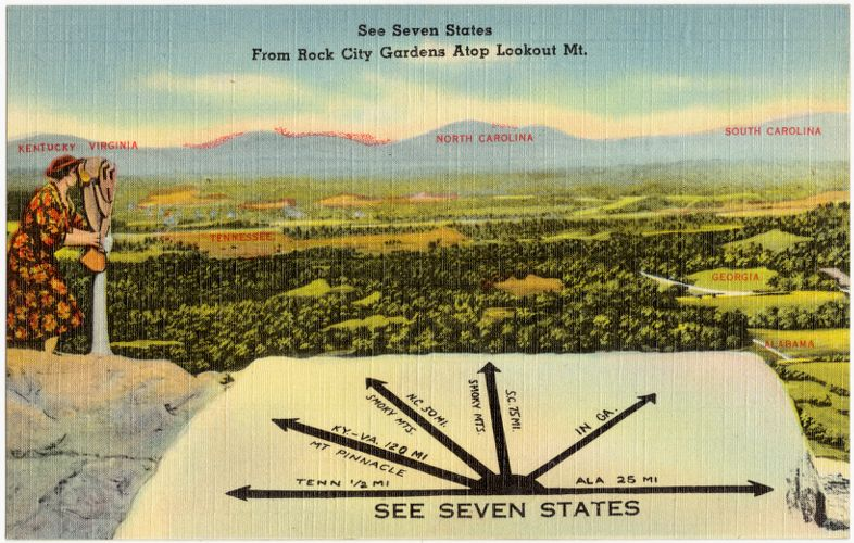 See seven states from Point Lookout, Lookout Mountain, Tenn.