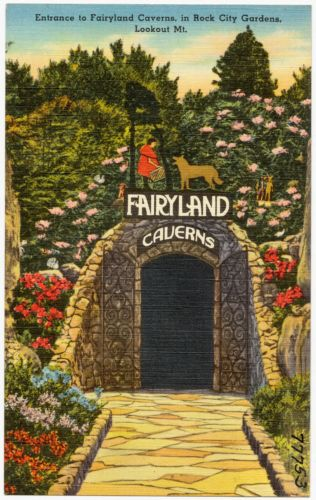 Entrance to Fairyland Caverns, in Rock City Gardens, Lookout Mt.