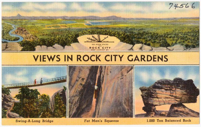 View in Rock City Gardens