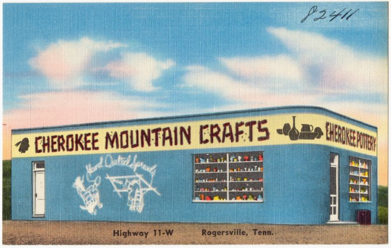 Cherokee Mountain Crafts, Highway 11-W, Rogersville, Tenn.
