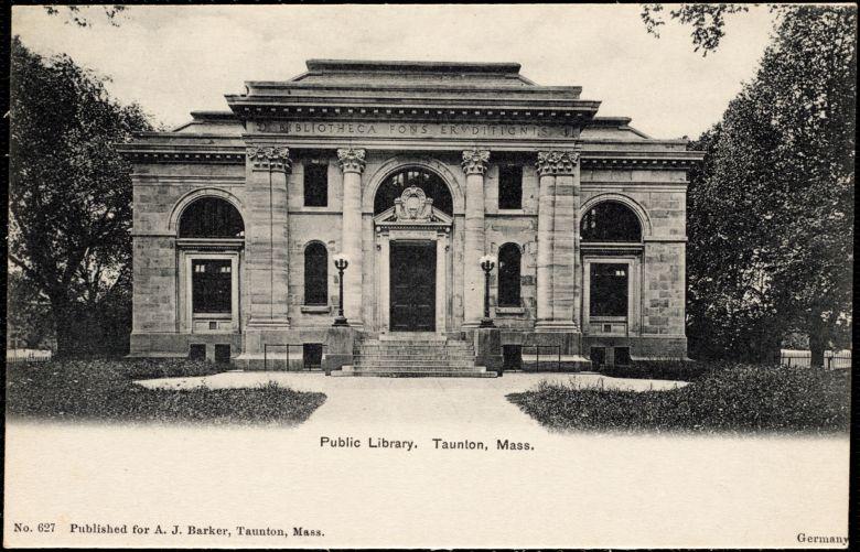 Public library. Taunton, Mass.