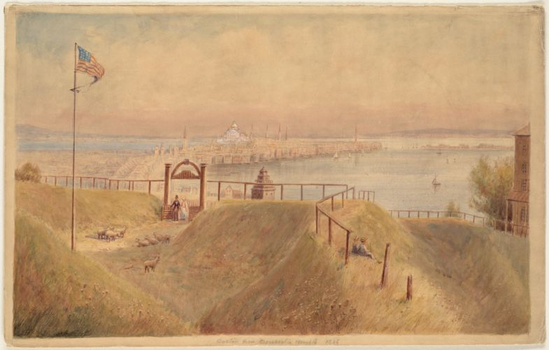 Boston from Dorchester Heights, 1836