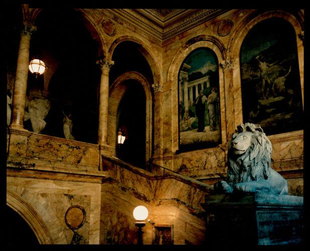 Grand staircase, Boston Public Library