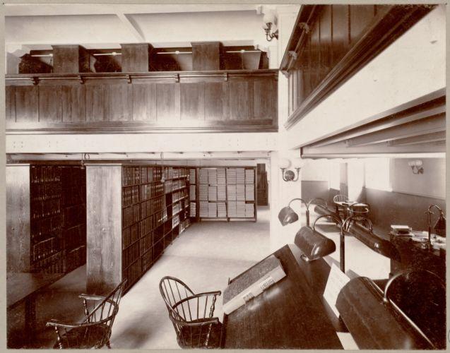 Boston, Massachusetts. Public library. Patent room