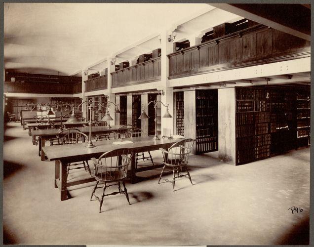 Boston Public Library, Copley Square. Patent room