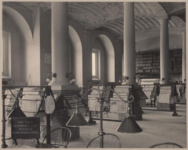 Boston Public Library, Copley Square. Newspaper room