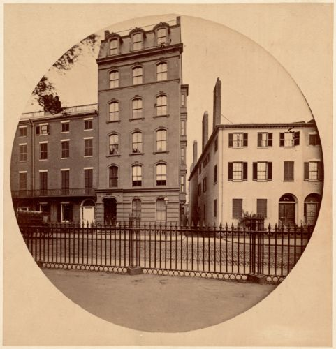 Evans House, corner of Tremont and Mason Sts., 1860