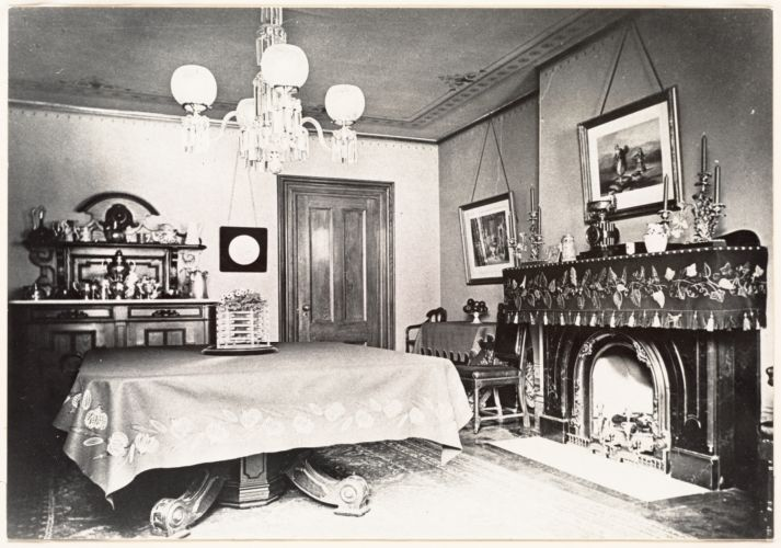 Two views of 44 Union Park, South End: Dining room