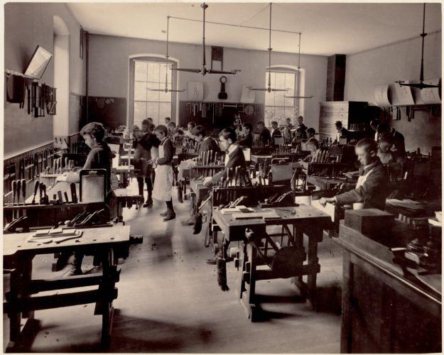Dwight School - shop class (interior)