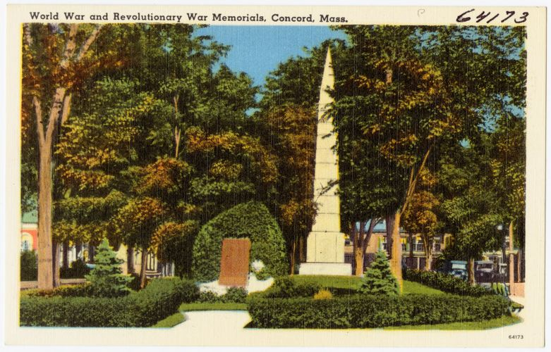 World War and Revolutionary War Memorials, Concord, Mass.