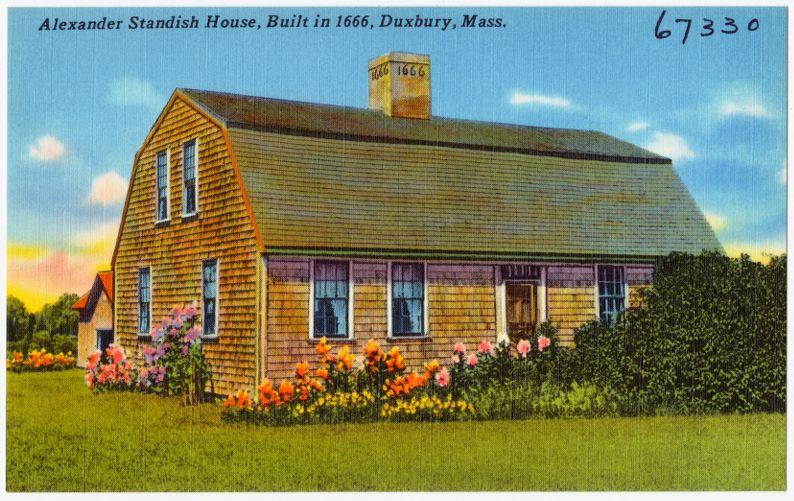 Alexander Standish House, built in 1666, Duxbury, Mass.