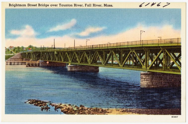 Brightman Street Bridge over Taunton River, Fall River, Mass.