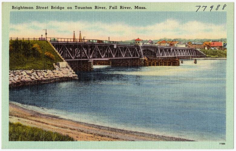Brightman Street Bridge on Taunton River, Fall River, Mass.