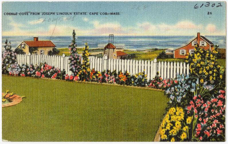 Cockle Cove from Joseph Lincoln Estate, Cape Cod, Mass.