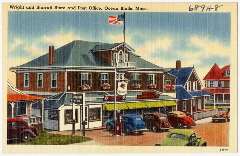 Wright and Starratt Store and post office, Ocean Bluffs, Mass.