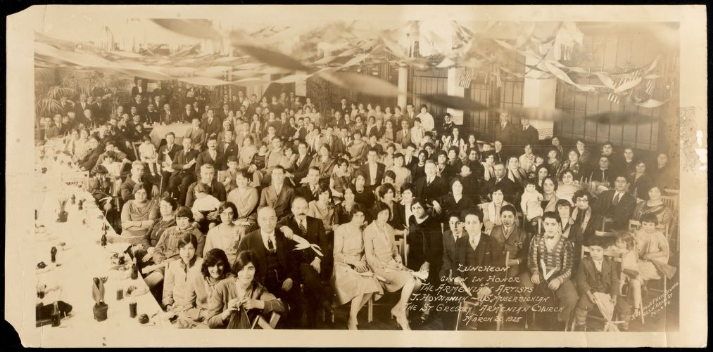 Luncheon given in honor of Armenian artists J. Hovnanian and S. Mugerdichian