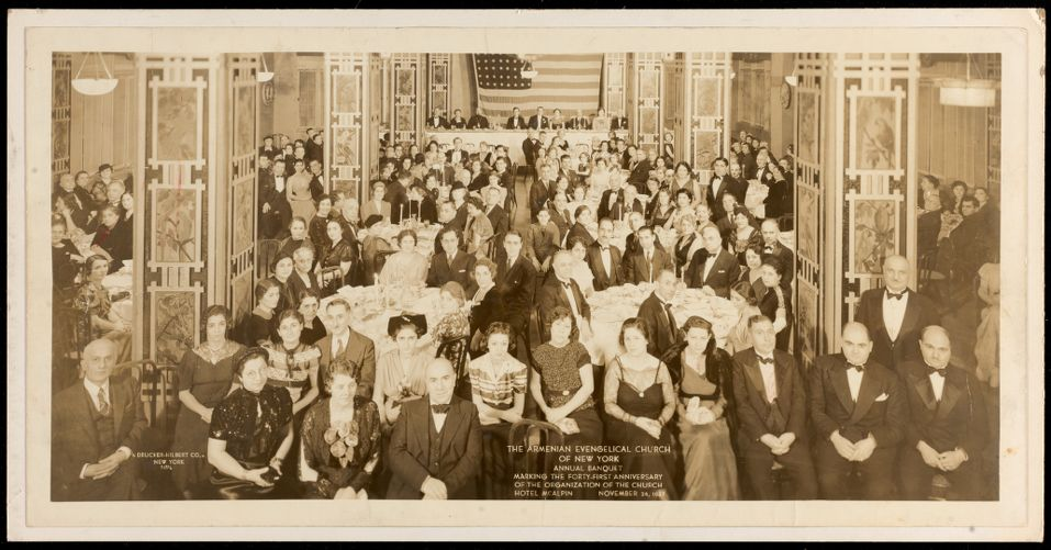 The Armenian Evangelical Church of New York annual banquet marking the forty-first anniversary of the organization of the church