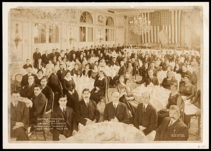Banquet tendered In honor of General Antranik by Armenians of Philadelphia