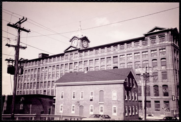 Ayer Mill & old freight terminal. Merrimack St.
