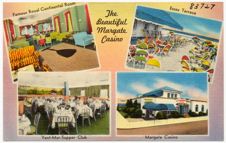 The beautiful Margate Casino, famous royal continental room, Essex Terrace, Vent-Mar-Supper Club, Margate Casino