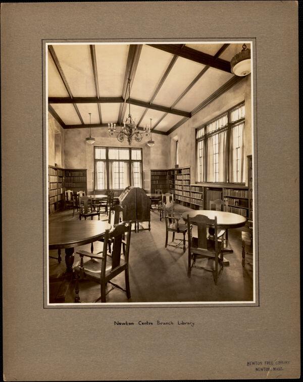 Newton Centre branch library, interior