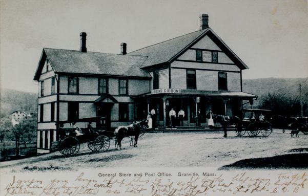 Gibbons store with horses and wagons out front