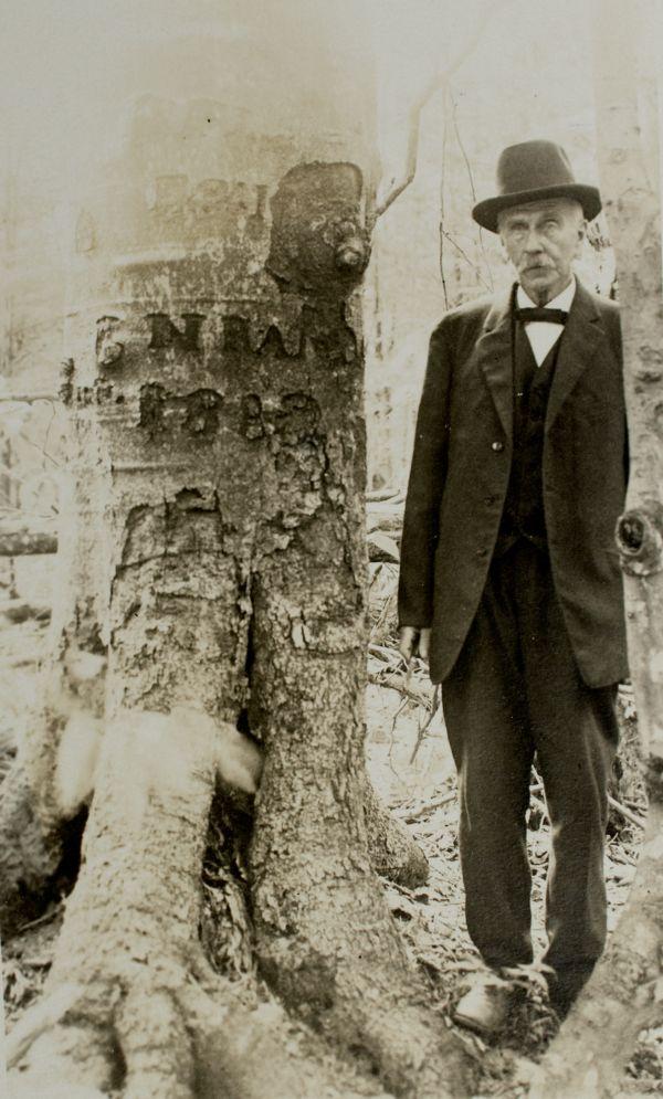Jones, Ben with tree in north quarter