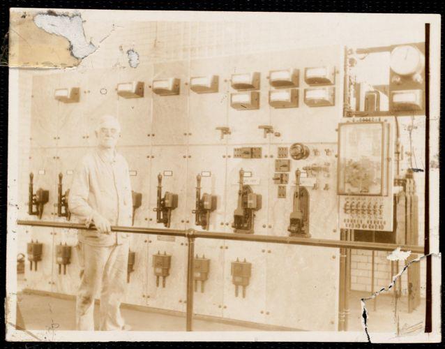 Eichler switchboard, L. P. Mills wheel room, Austin Deane