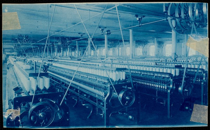 Lower Pacific Mills, spinning room