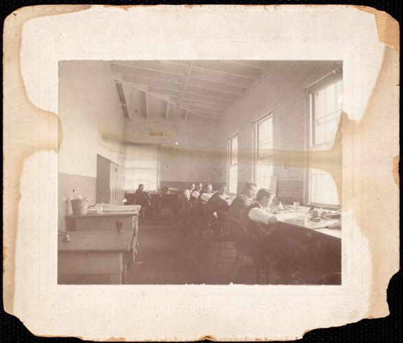 James Thomas Bower, stitch maker + printer, Pacific Mills, Lawrence, Merrimack St.