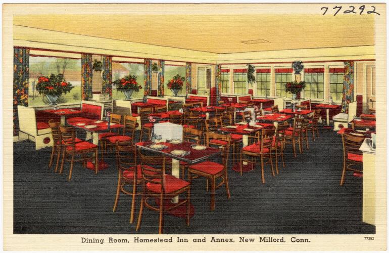 Dining room, Homestead Inn and Annex, New Milford, Conn.