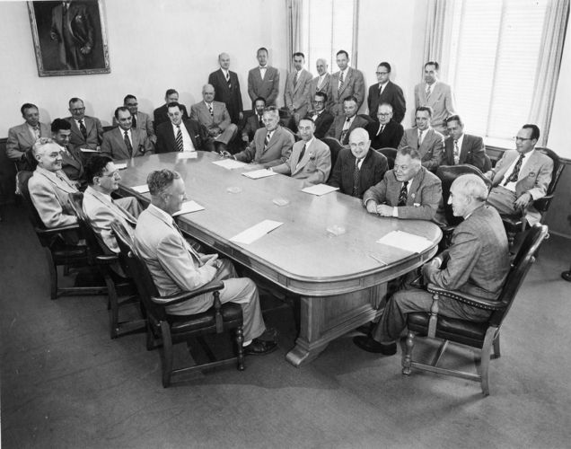 Early photo of Board of Trustees, undated