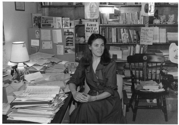 Dianne Austin, in her office