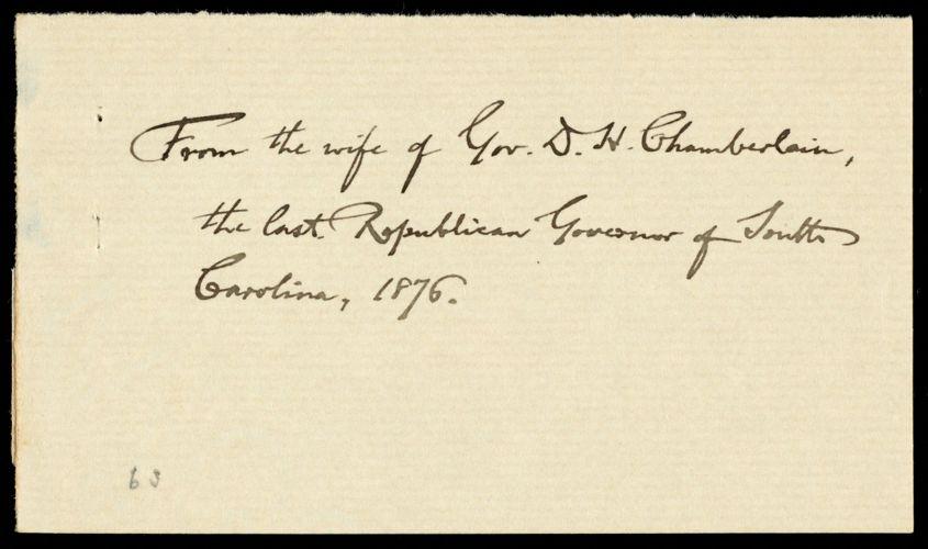 Letter from Alice Ingersoll Chamberlain, Columbia, S.C., to William Lloyd Garrison, Dec. 26, 1876