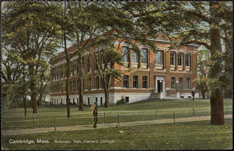 Cambridge, Mass. Robinson Hall, Harvard College