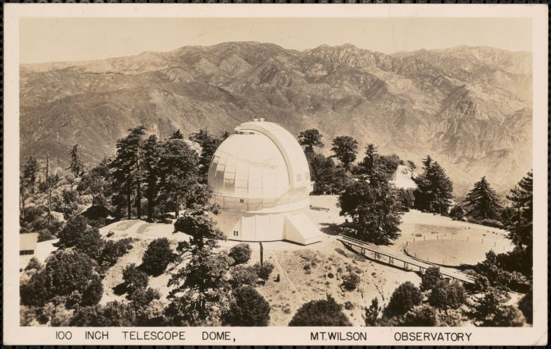 100 inch telescope dome, Mt. Wilson Observatory