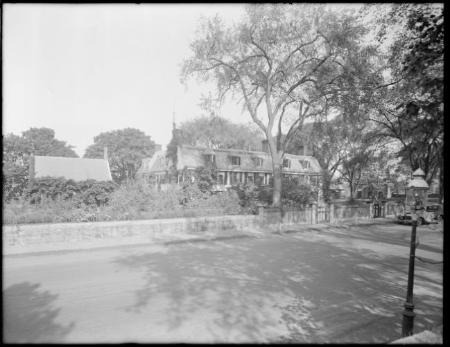 Adams Mansion, Quincy, Mass., view from street