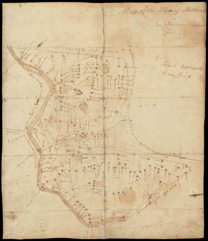 Map of the town of Methuen