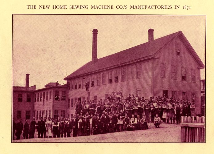 New Home Sewing Machine Co.'s manufactories in 1871