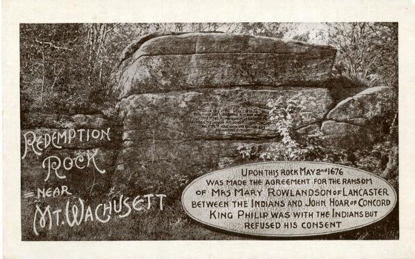 Redemption Rock, Princeton, MA - postcard, early 1900s