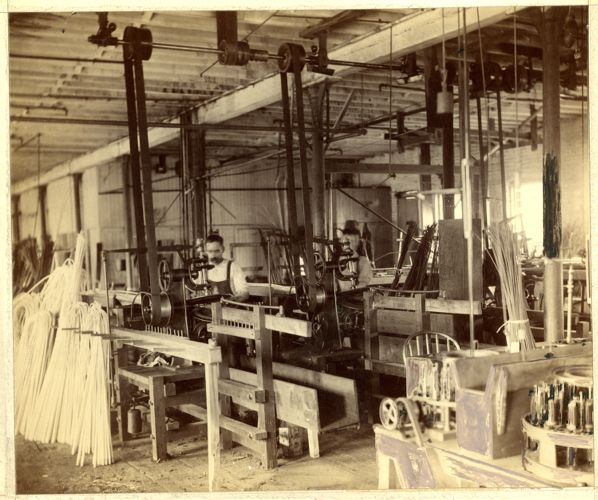 Machinery in whip factory
