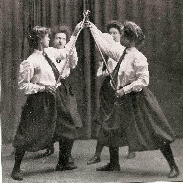 A wand drill at the YWCA in Worcester, Massachusetts, 1916