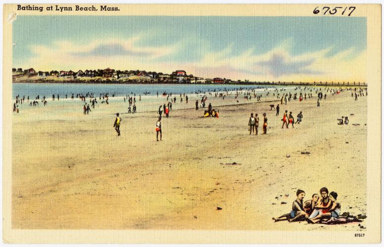 Bathing at Lynn Beach, Mass.