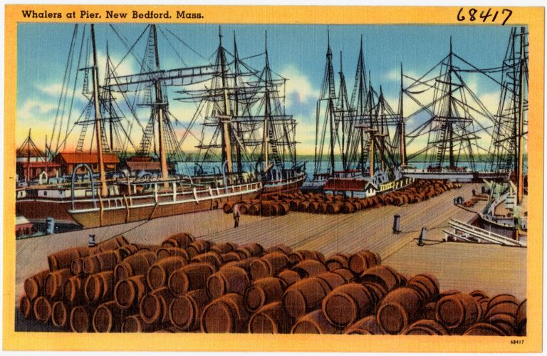 Whalers at pier, New Bedford, Mass.
