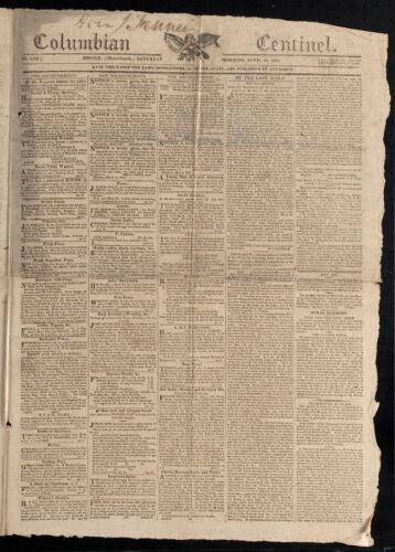 Columbian Centinel, April 22, 1815